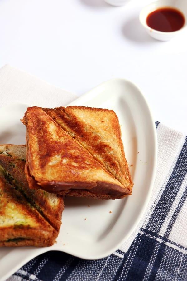 masala toast recipe a