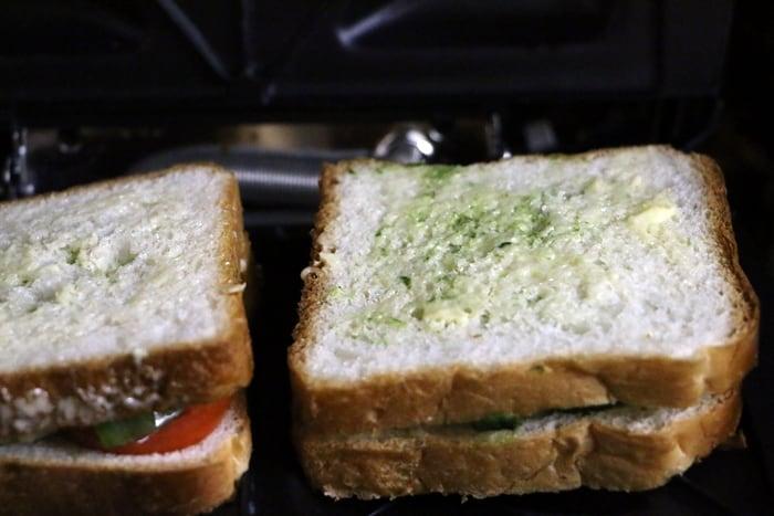 masala toast recipe step 6