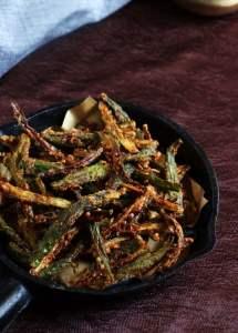 Bhindi fry recipe   Kurkure bhindi fry recipe