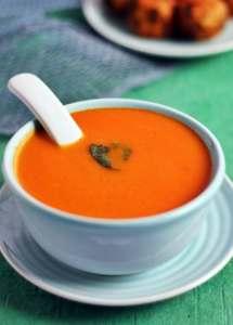 Carrot and tomato soup recipe | Tomato carrot soup recipe
