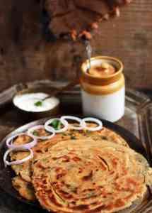 Pudina paratha recipe | Pudina lachha paratha