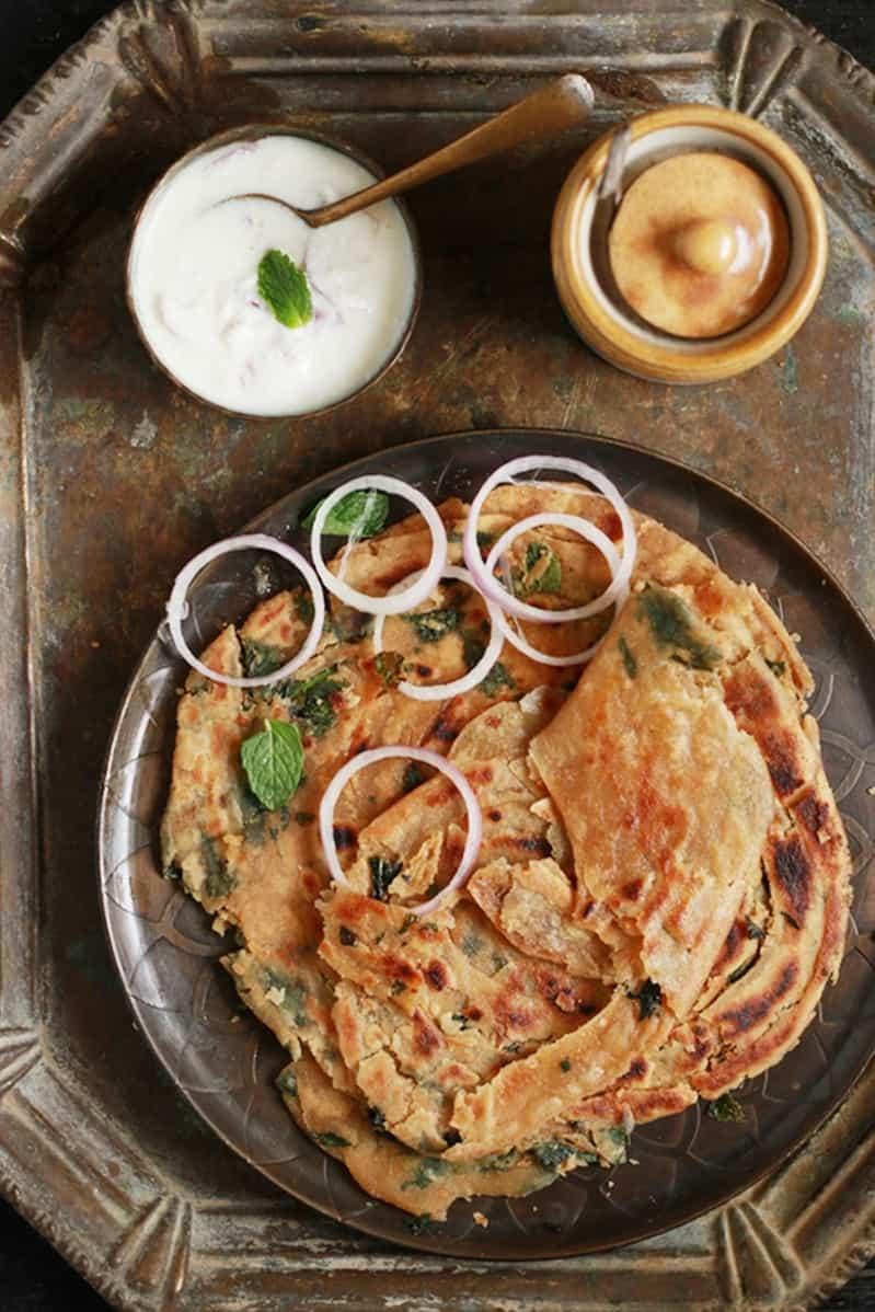 pudina paratha recipe b
