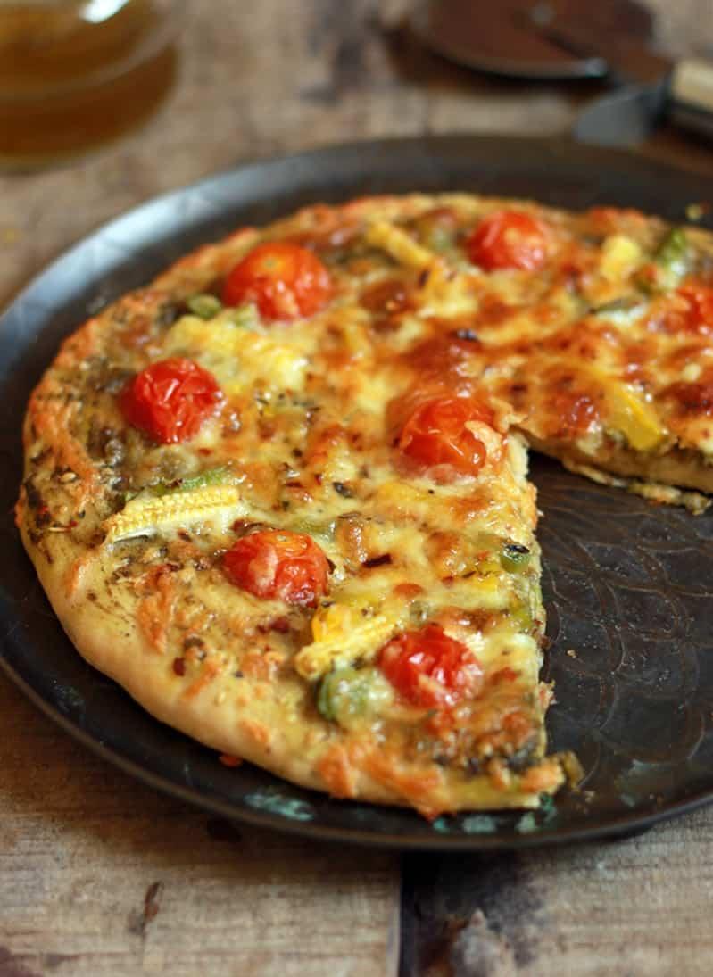 Pesto pizza recipe, basil pesto pizza recipe