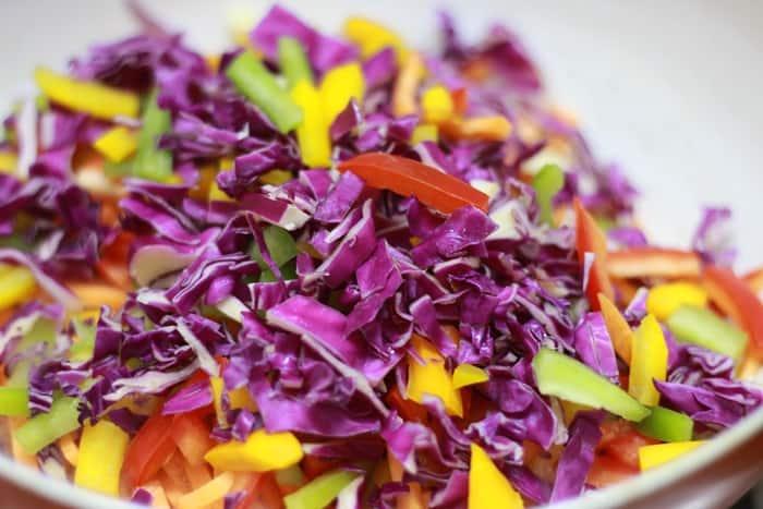 veg crisp salad step 1