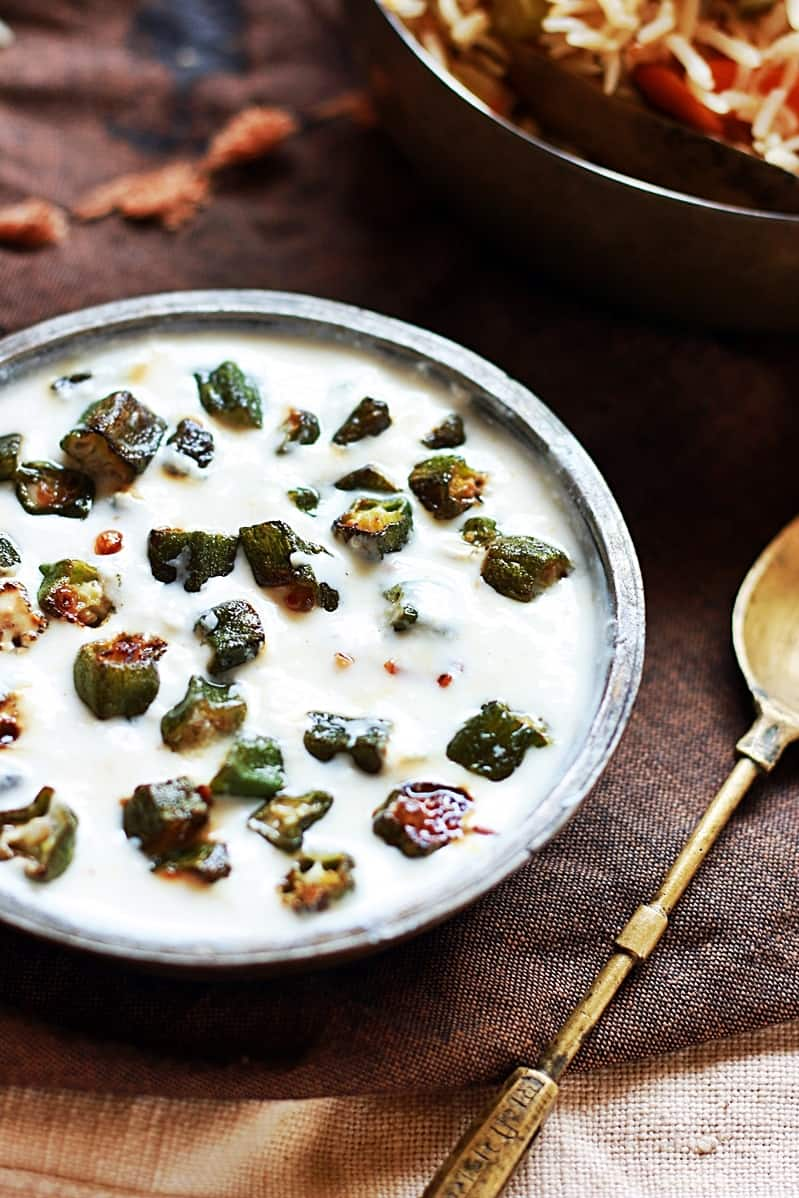 bhindi raita recipes
