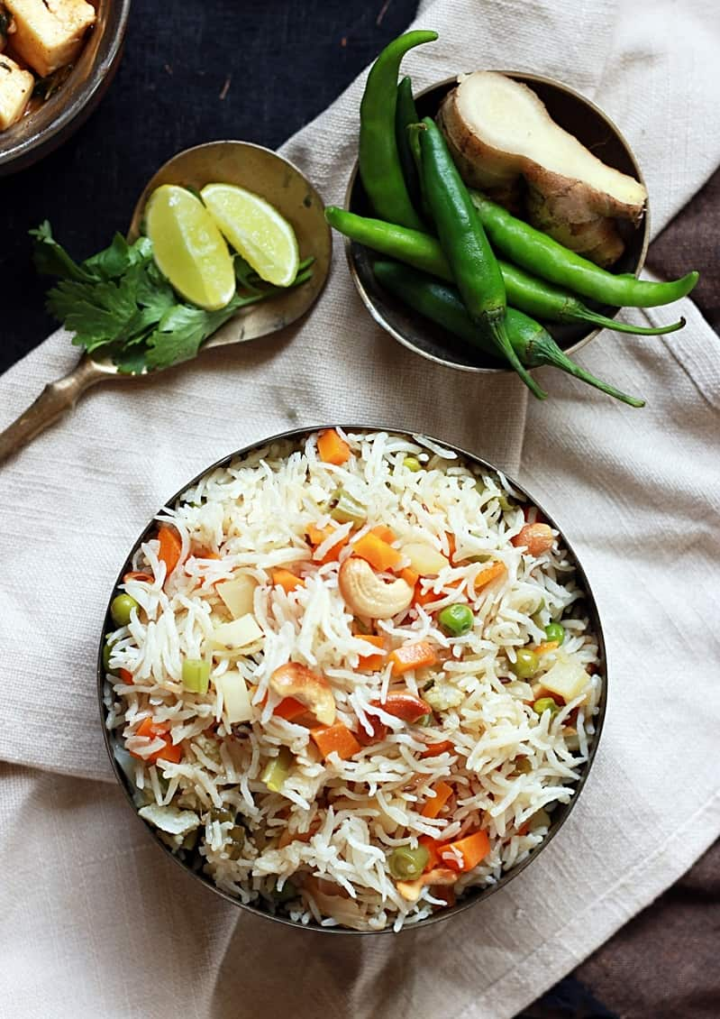 vegetable pulao recipe d