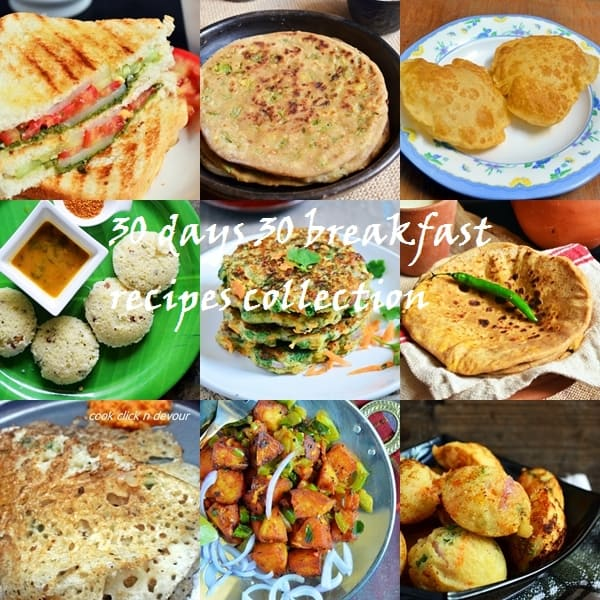 30 days 30 breakfast recipes