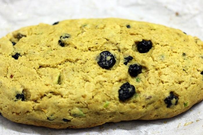 cranberry pistachi biscotti step 4