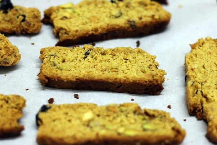cranberry pistachi biscotti step 6