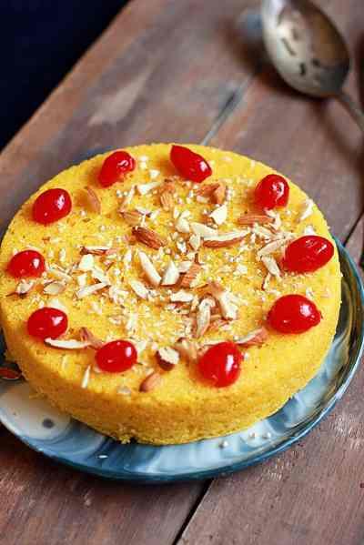 Mango rava cake recipe | Easy semolina mango cake recipe