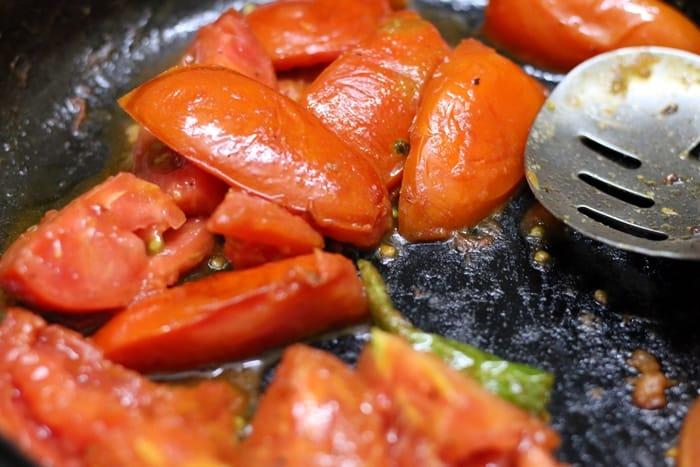 peanut tomato chutney step 1