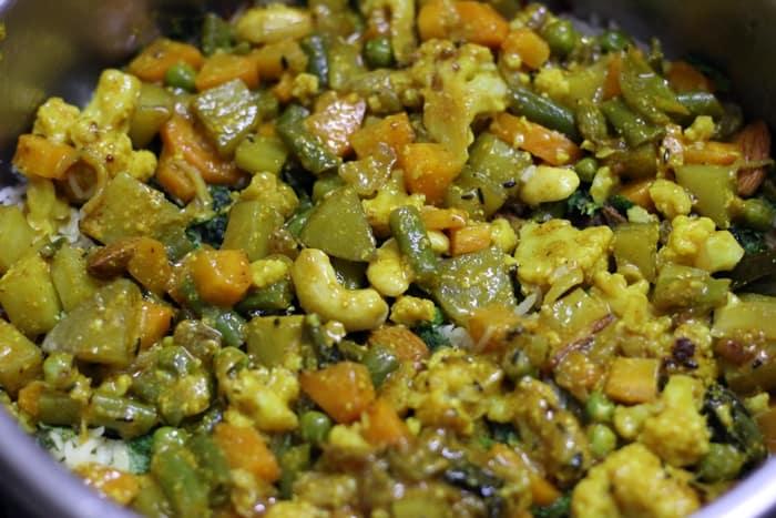 veg dum biryani recipe step 11
