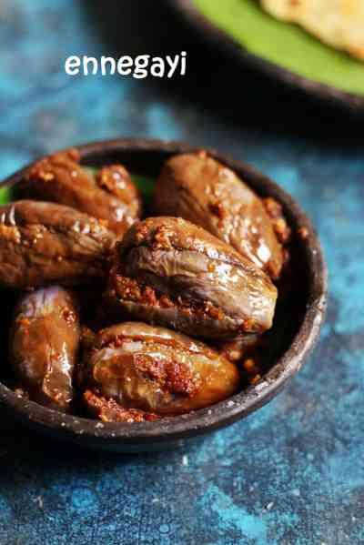 ennegayi recipe, how to make badanekayi ennegayi recipe | Karnataka stuffed brinjal recipe
