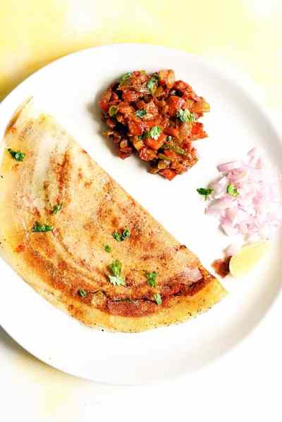 pav bhaji dosa recipe, how to make pav bhaji dosa recipe | Dosa recipes