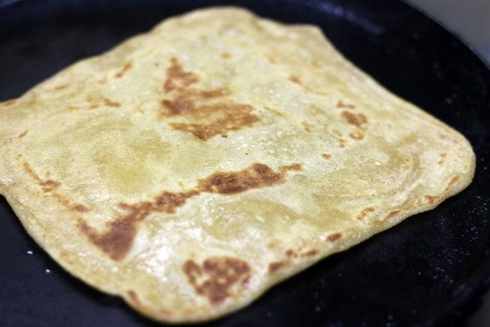 plain paratha recipe step 6