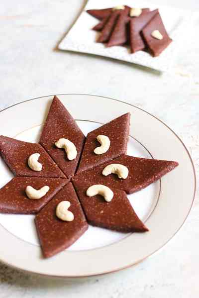 chocolate kaju katli recipe