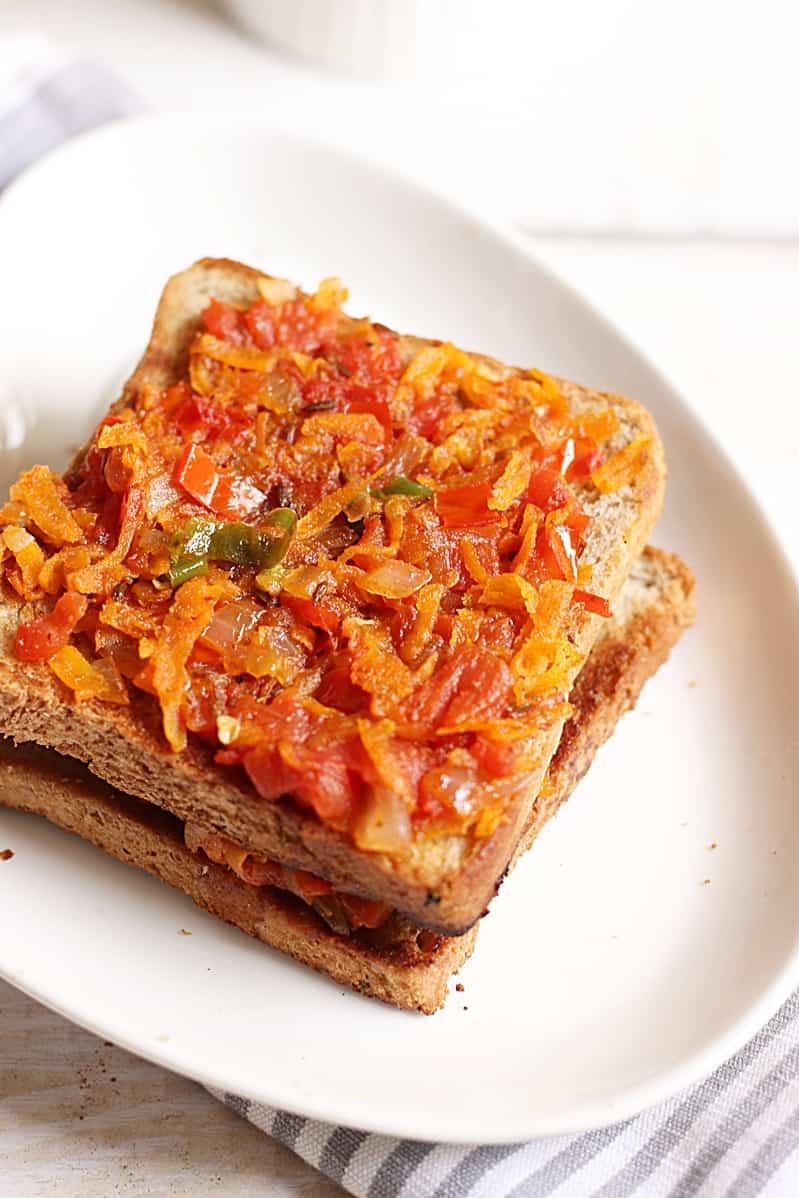 Bakery style masala toast recipe a