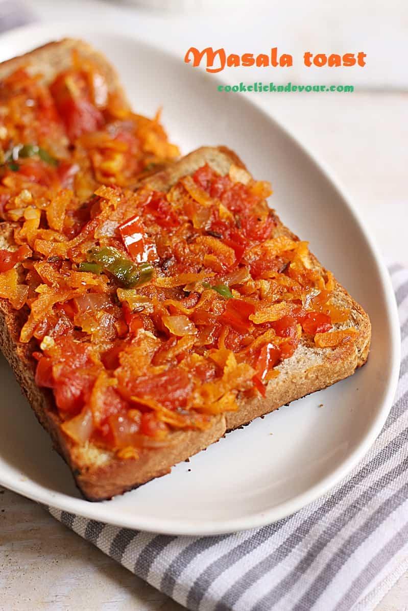 masala toast recipe