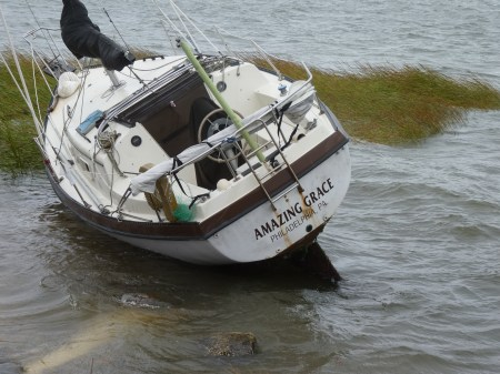 Sunken Boat Cape May Harbor