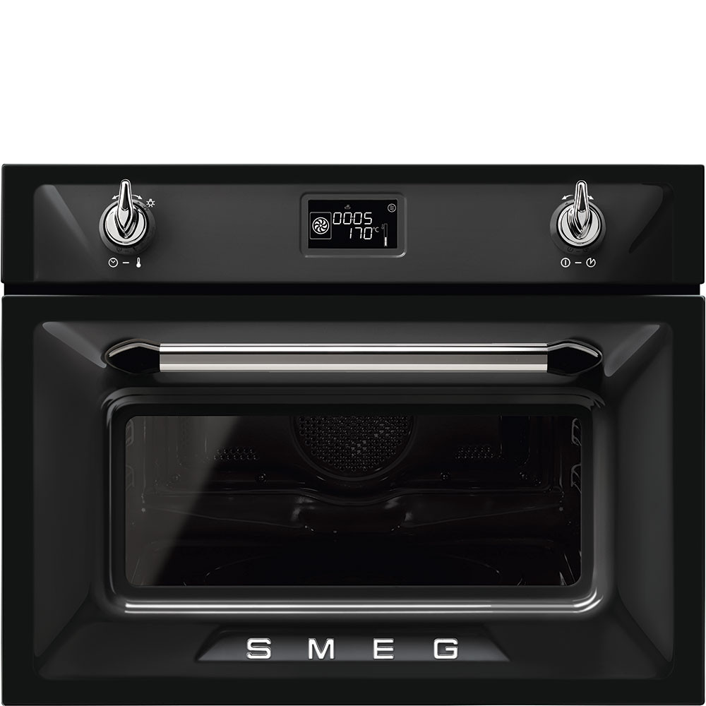 Combination Microwave Oven Smeg Sf4920mcn1 Victoria Black Compact Combination Microwave Oven