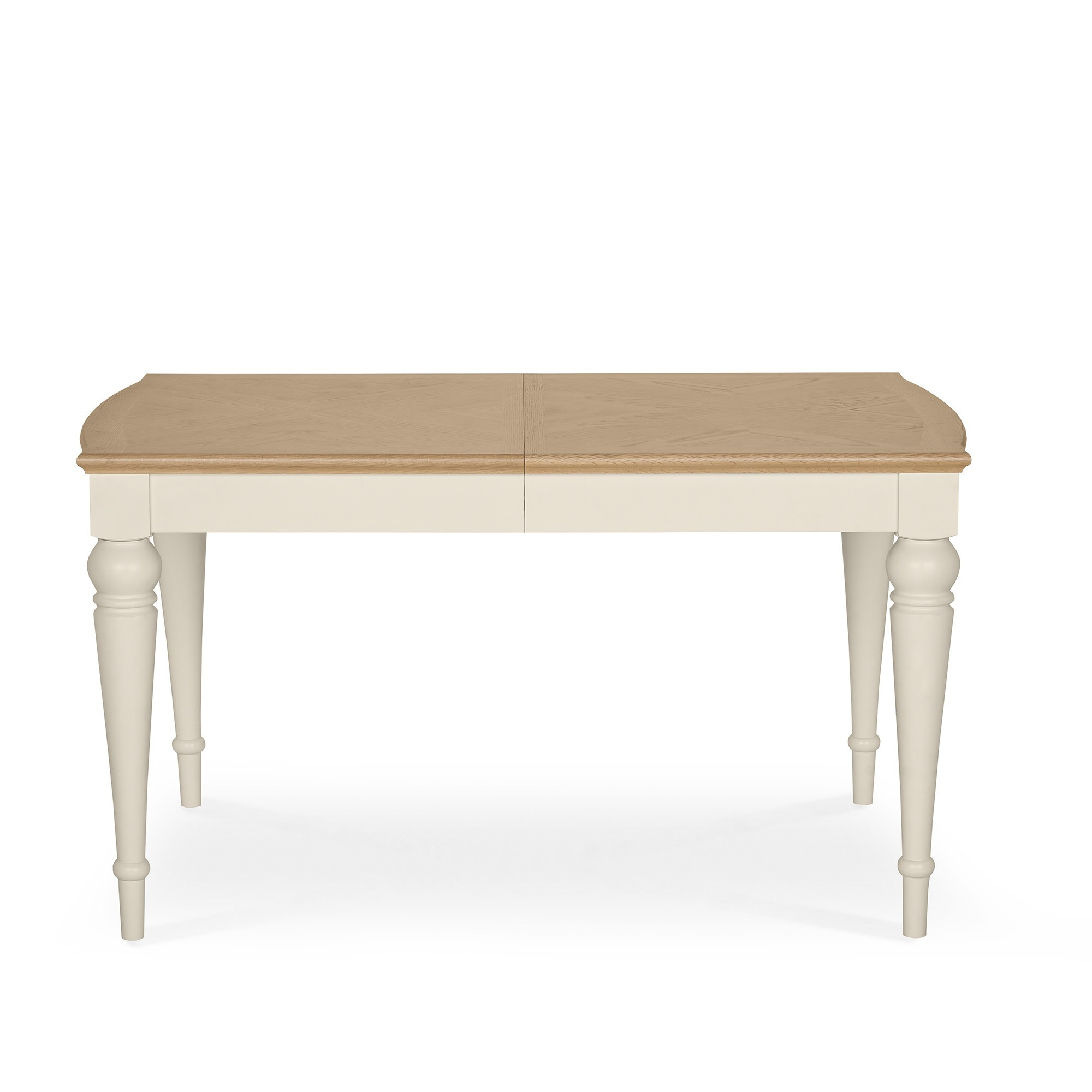 Extending Oak Table Cookes Collection Geneva Oak And Antique White 6 8 Extending Dining Table