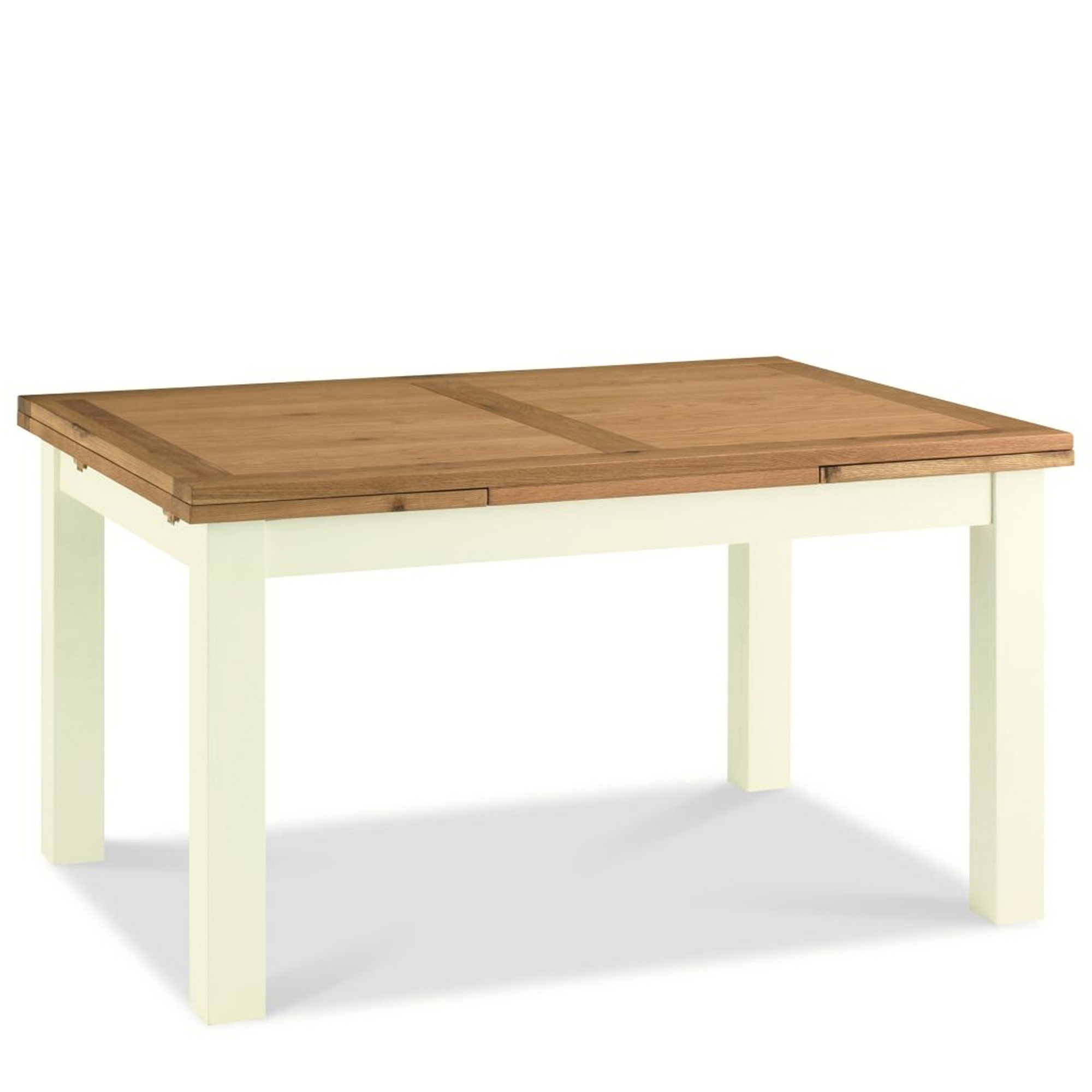Extending Oak Table Cookes Collection Romana Two Tone Extending Dining Table