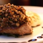 Recipe: Mushroom-crusted steaks with red wine sauce