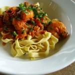 Recipe: Spicy shrimp in saffron tomato sauce
