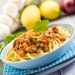 Recipe: Pasta with olives, tomatoes and tuna