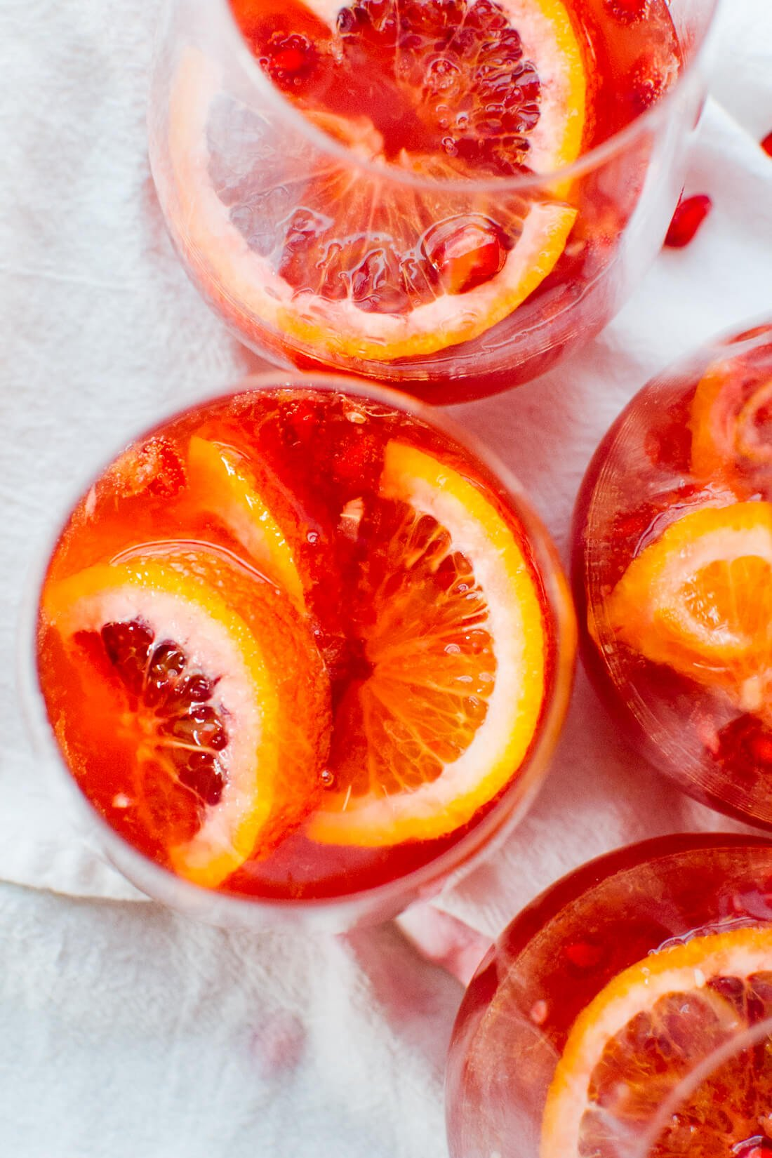 Pomegranate Pics Blood Orange And Pomegranate Sparkling Sangria