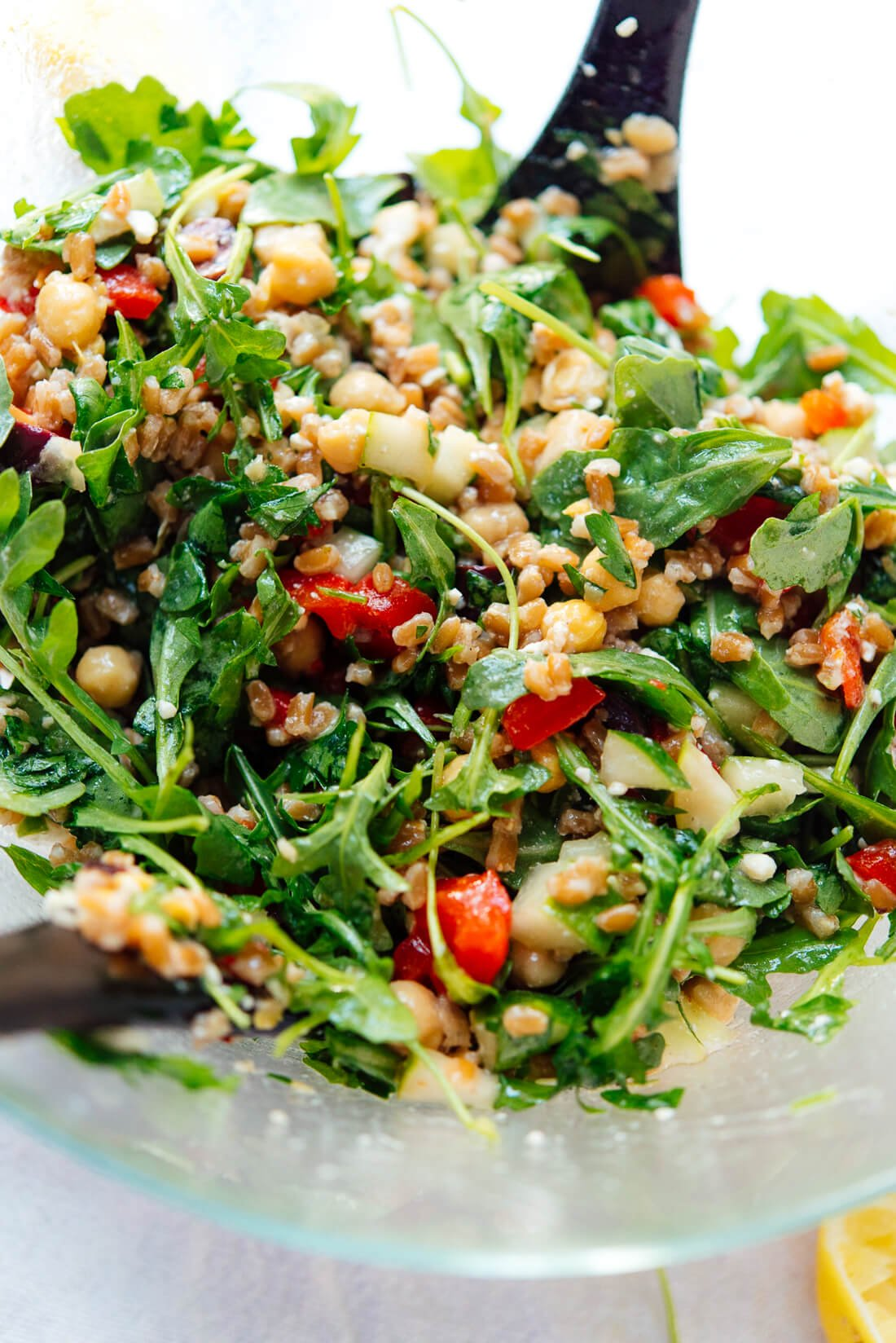 Greek Farro Salad Recipe Cookie And Kate