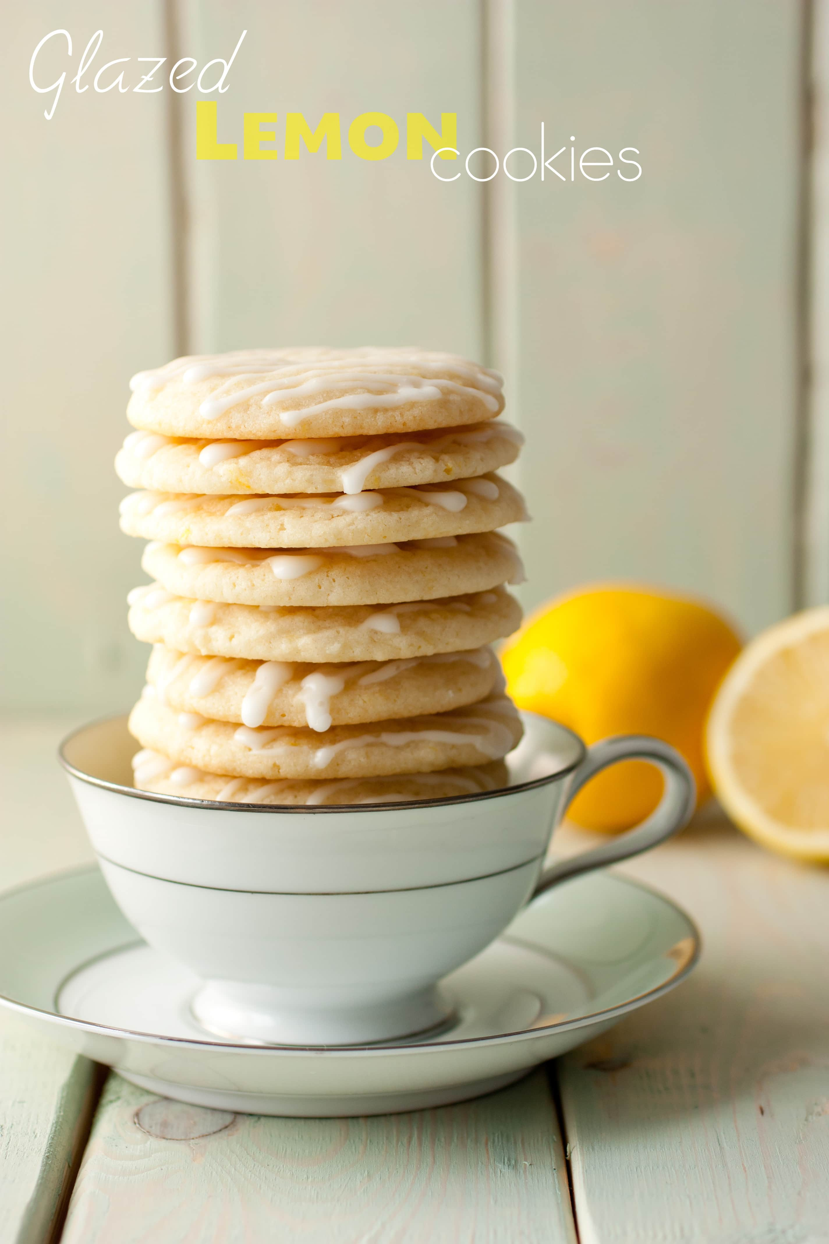 Baking Soda Met Citroen Glazed Lemon Cookies