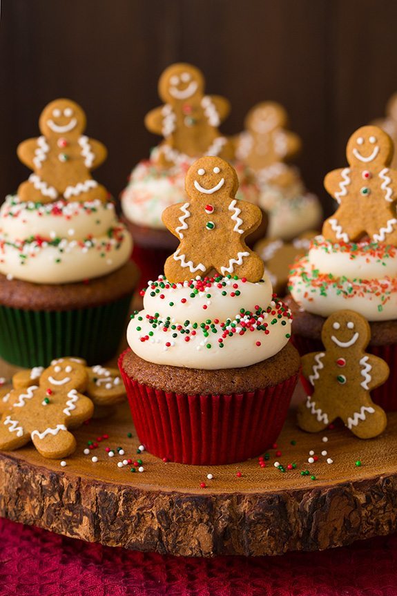 Milk Decoration Gingerbread Cupcakes With Cream Cheese Frosting - Cooking