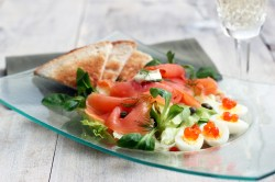 Small Of Smoked Salmon Salad