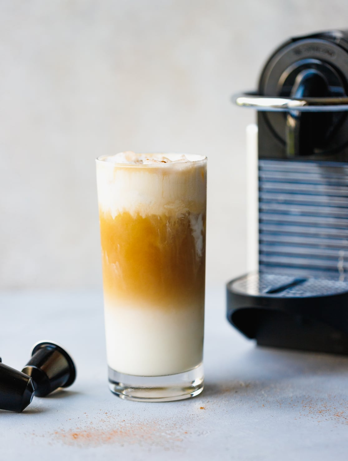 Coffee Latte Iced Vanilla Coffee Latte Recipe Using Nespresso