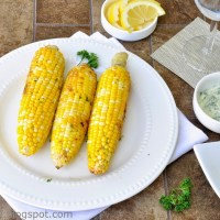 Grilled Corn On The Cob In Foil With Garlic Butter