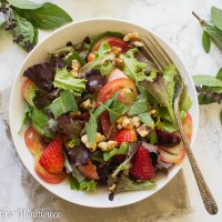 Strawberry Heirloom Tomato Salad