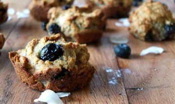 AIP Blueberry Muffins - grain-free, egg-free, nut-free, seed-free, made with real food! | Cook It Up Paleo