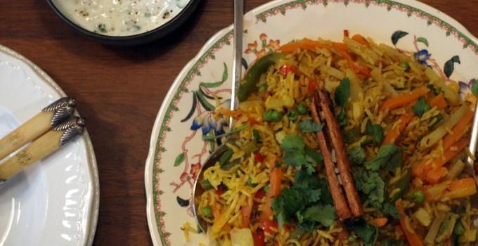 Low FODMAP Vegetable Biryani