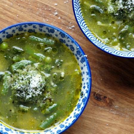 Low FODMAP green minestrone soup recipe