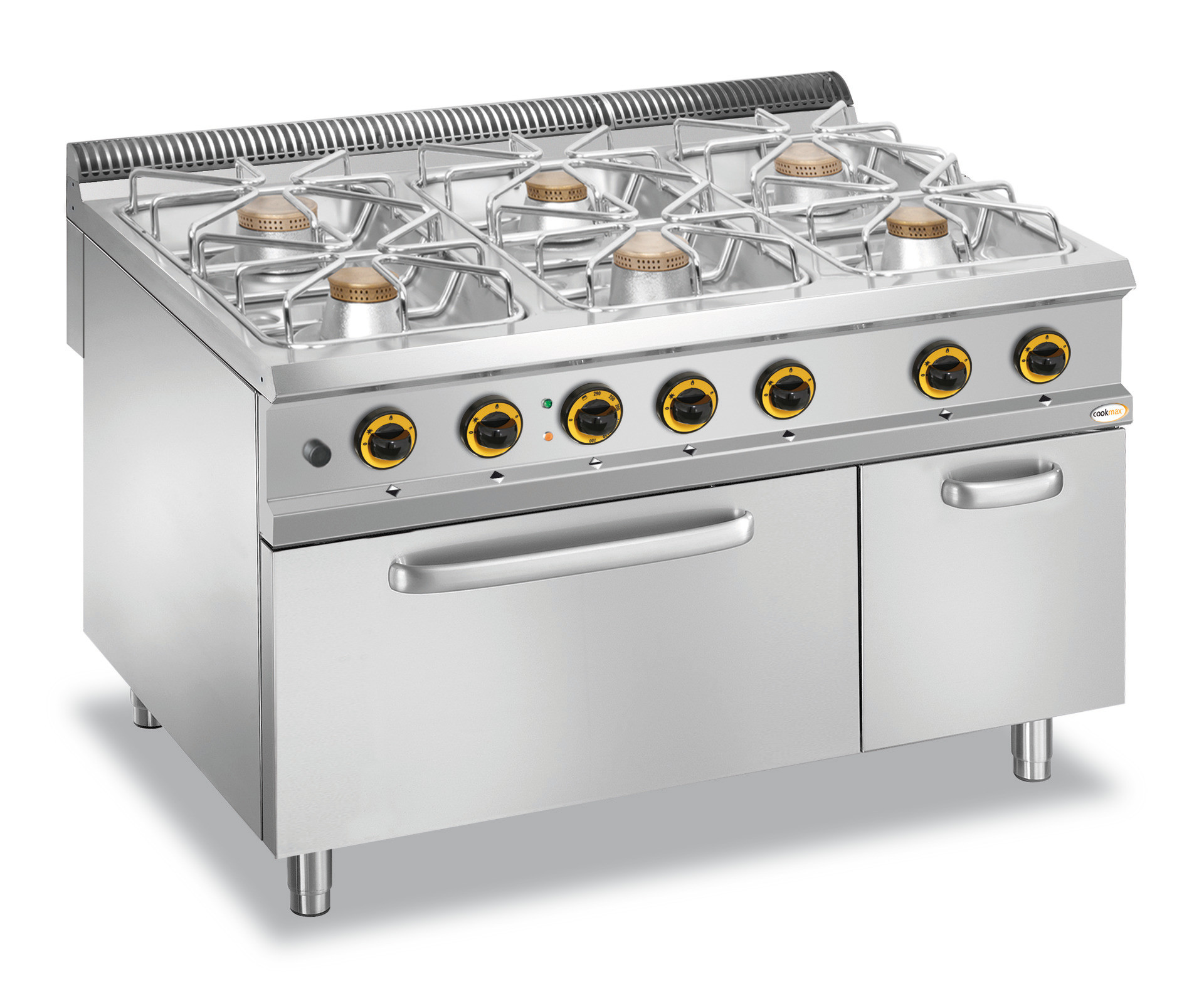 Gas Herd 6 Brenner Elektro Backofen Gn 2 1 Neutralfach 1200 X 900 X 850 Mm Cookmax