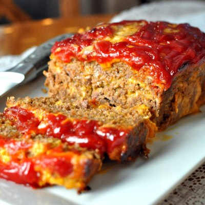 Simple No-Veggie Meatloaf (with or without Cheese)