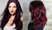 Hair color 2017: Black cherry hair