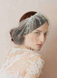 wedding hairdos for short hair with veil