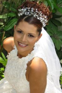 Wedding Hairstyle with Tiara