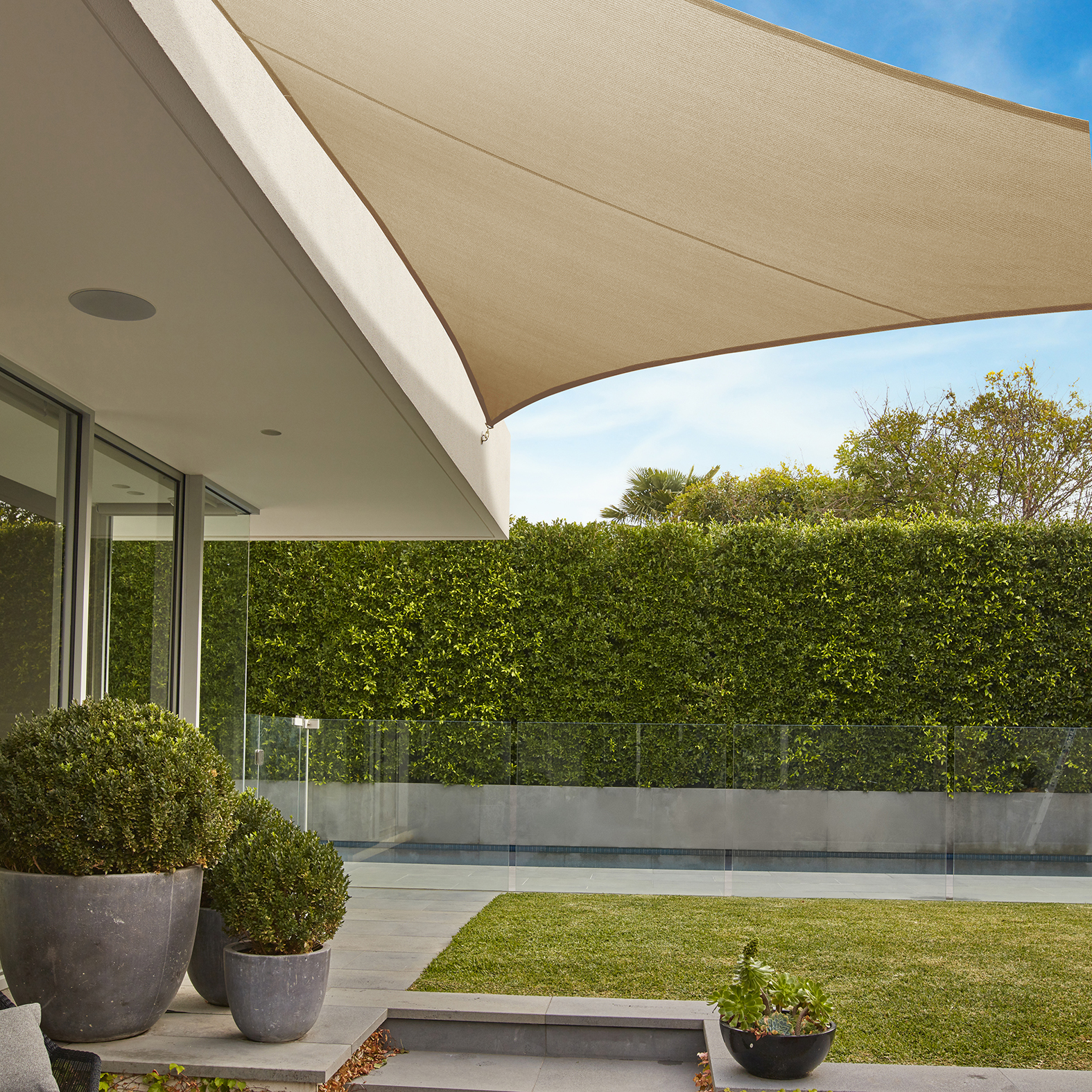 Outdoor Blinds Canberra Commercial Grade Triangle Shade Sail Coolaroo