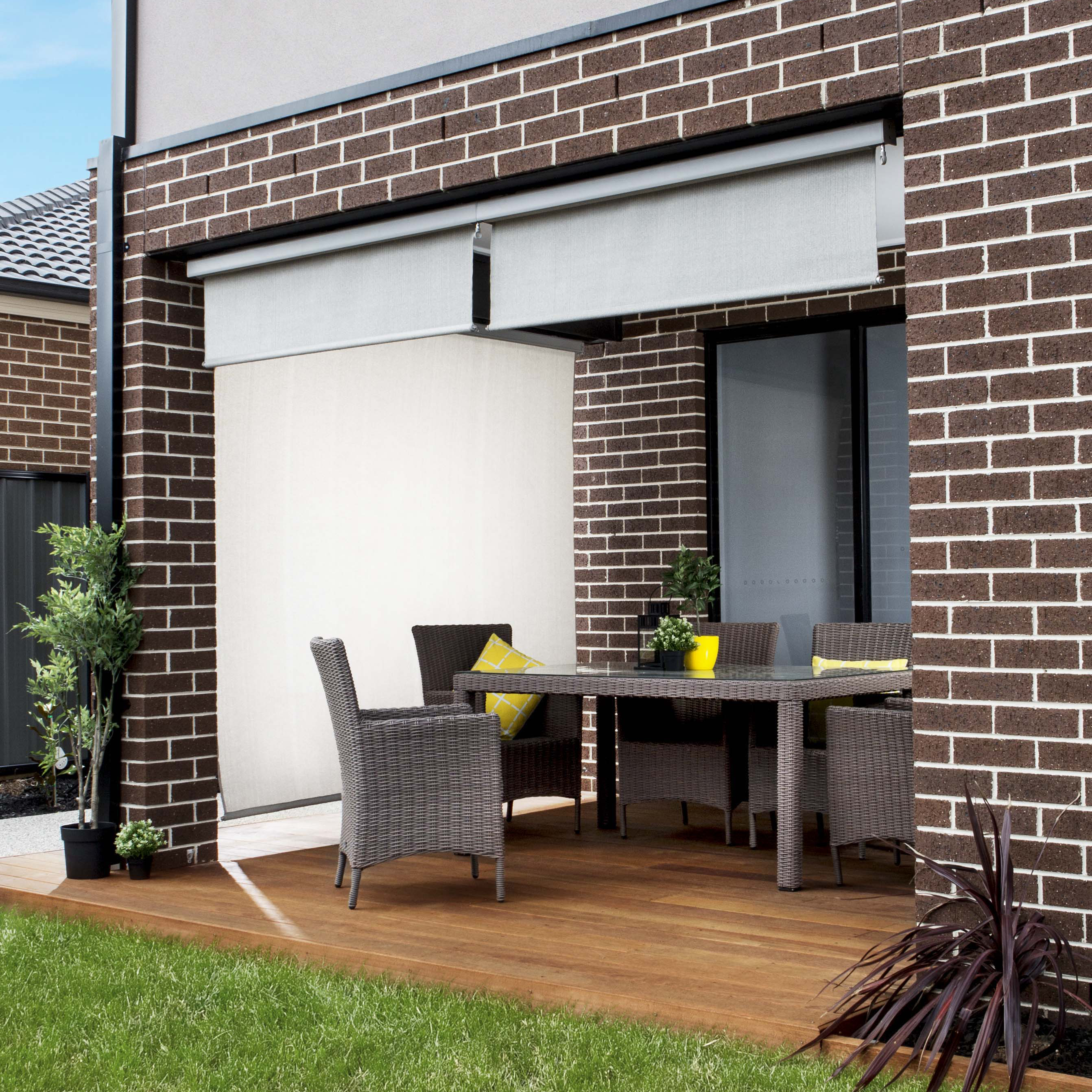 Outdoor Blinds Canberra Premium Pelmet Exterior Blind Coolaroo