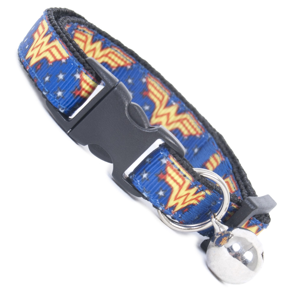 Cool Cat Supplies Wonder Woman Cool Cat Collar Buckle And Bell Safety Collar