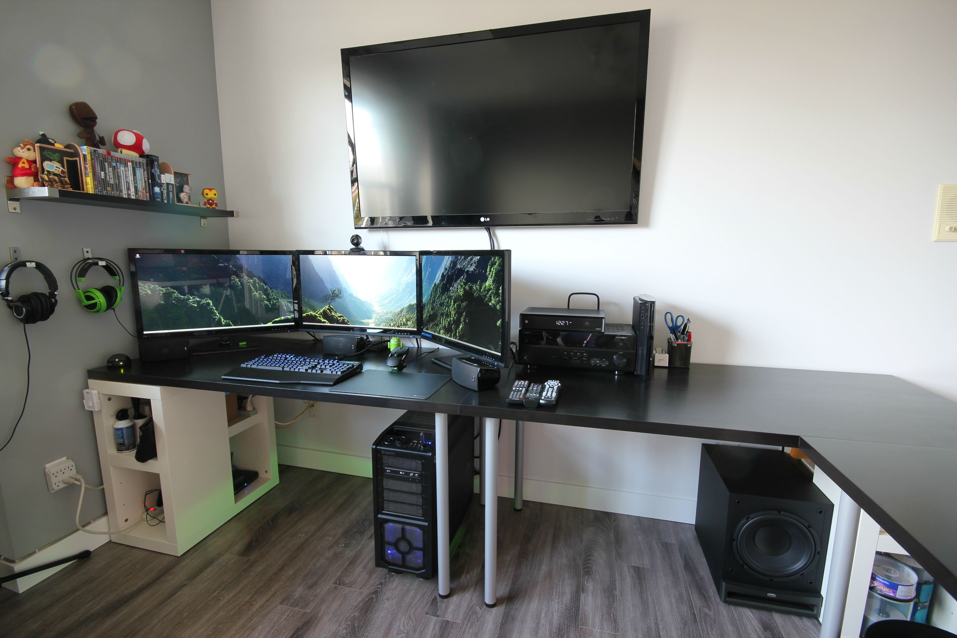 Ikea Linnmon Corner Desk Cool Computer Setups And Gaming Setups