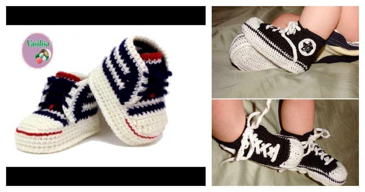 Crochet Baby Converse Booties Free Pattern Shoes Style 2018